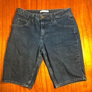 Riders by Lee mid rise Bermuda jean shorts